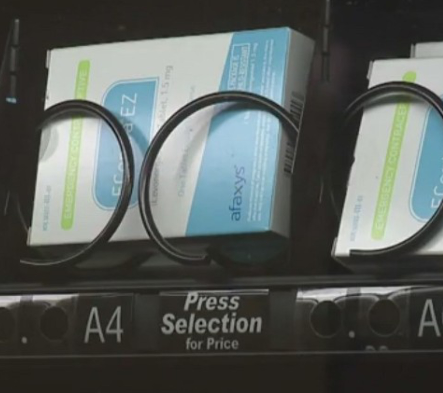 Morning after pill at vending machine