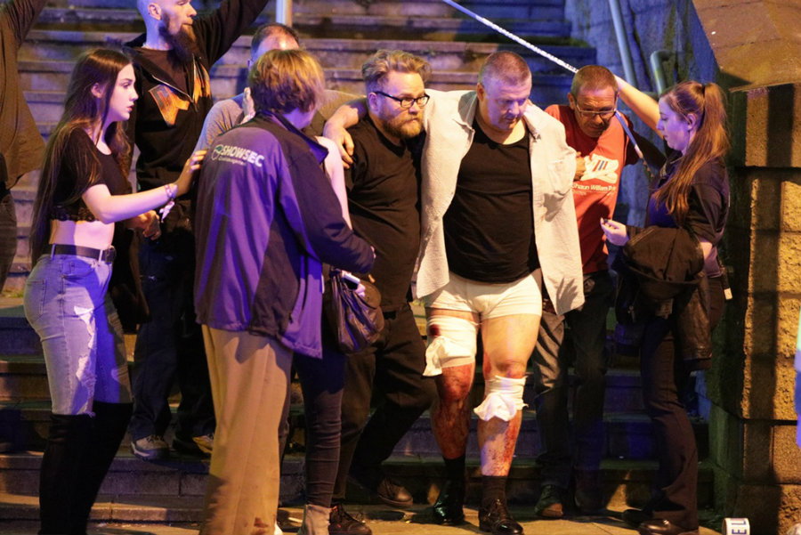 22 dead and 59 injured after a bomb explosion during Ariana Grande concert in Manchester.  Image credit: Hypebeast