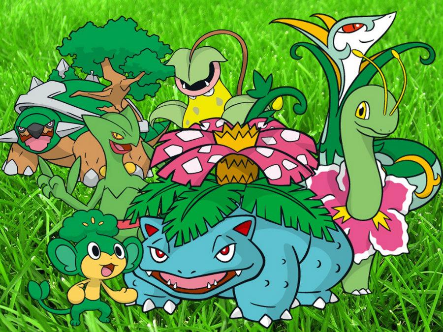 Grass-type Pokémons. Image credit: Legiongamingteam.com