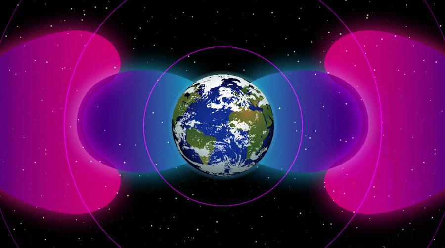 According to NASA, a human-made bubble of radio waves could be shielding Earth from radiation. Image credit: NASA