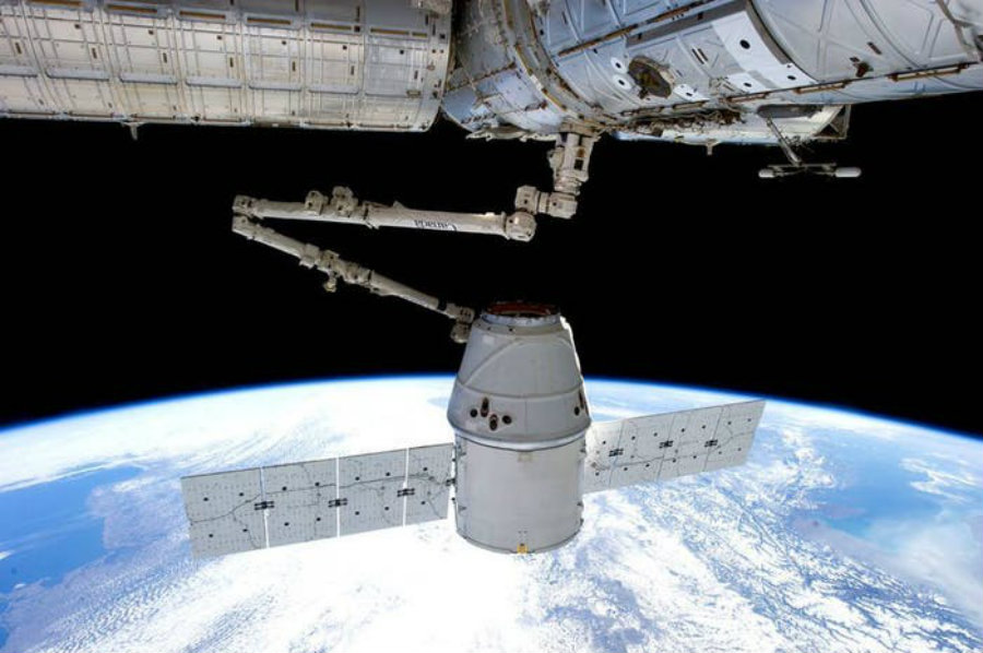 The Dragon capsule is also the first privately built spacecraft ever to reach the ISS more than once. Image credit: Inverse