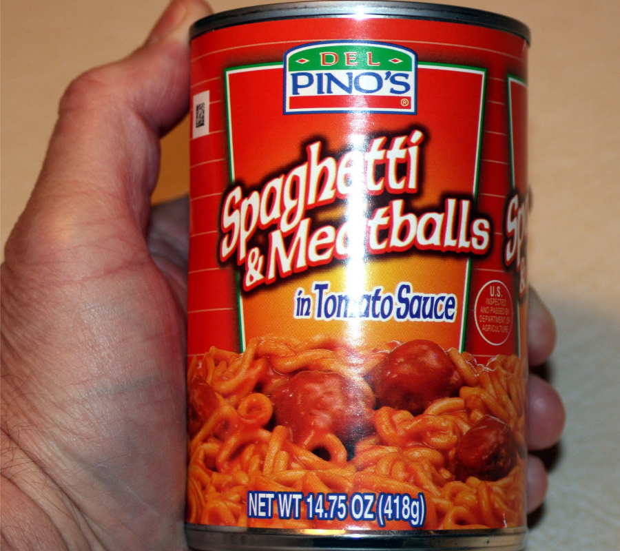 Del Pino's Spaghetti & Meatballs can.
