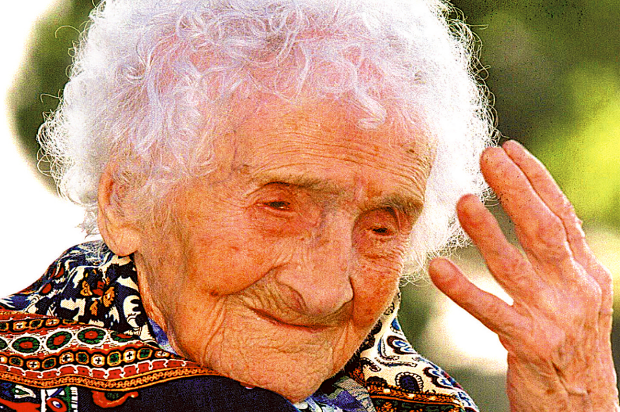 Jeanne Louise Calment, who died at 122 years of age. Image Credit: Planet.fr