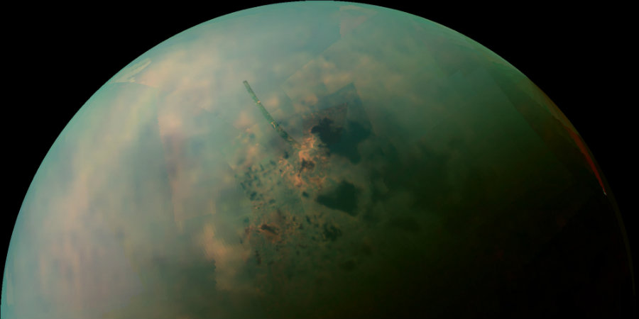 Scientists discovered that Saturn's moon, Titan, has some molecules that could be essential to the development of life. Image credit: Huffpost