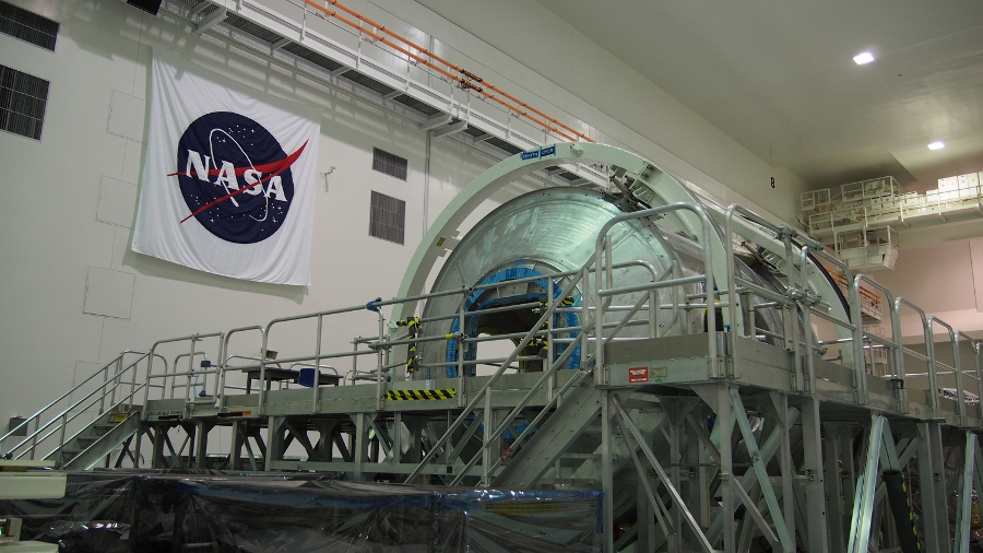 The Donatello module at the Vehicle Assembly Building, or VAB, at NASA's Kennedy Space Center. Image Credit: TheOrbital.Space