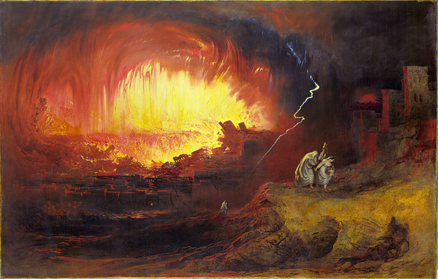 The destruction of Sodom and Gomorrah by John Martin, 1852. Image Credit: Wikimedia Commons