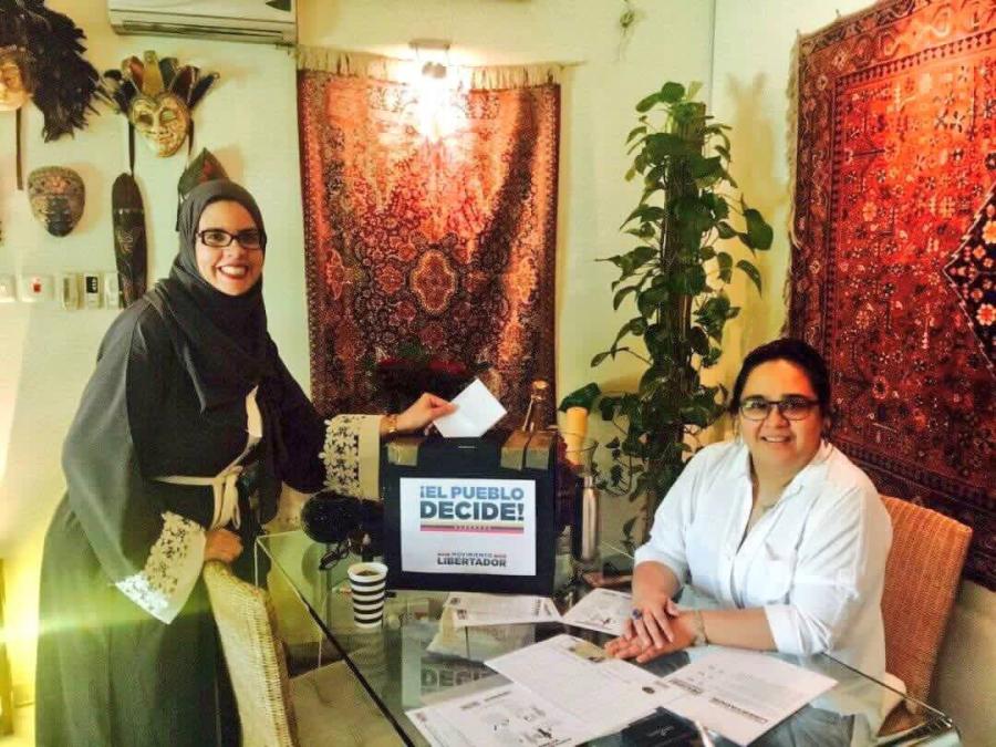 The referendum taking place on Saudi Arabia, on Saturday 11 a.m. Venezuelan local time. Image Credit: Freddy Guevara / @FreddyGuevaraC