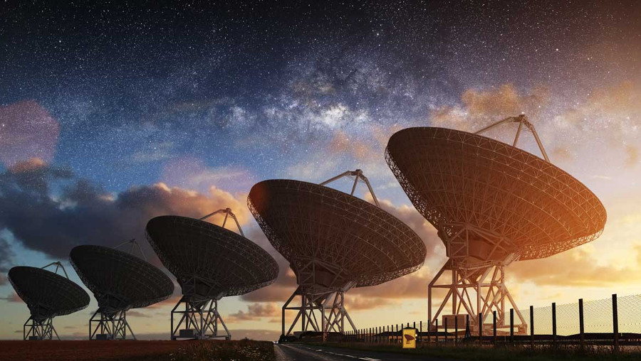 SETI Array in New Mexico. Image Credit: Evolving Science