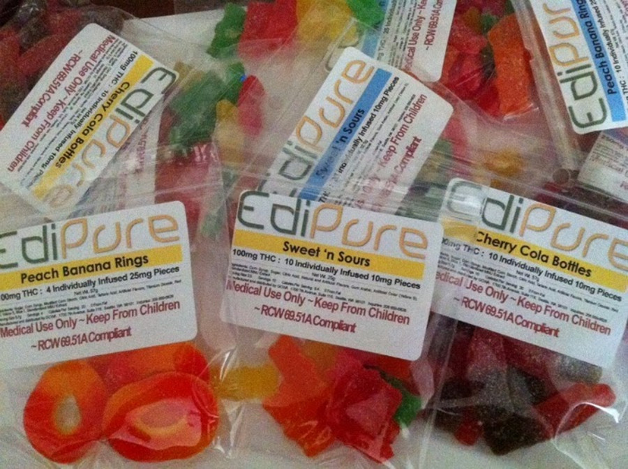 Edipure THC gummy bears. Image Credit: My Own Private Idaho