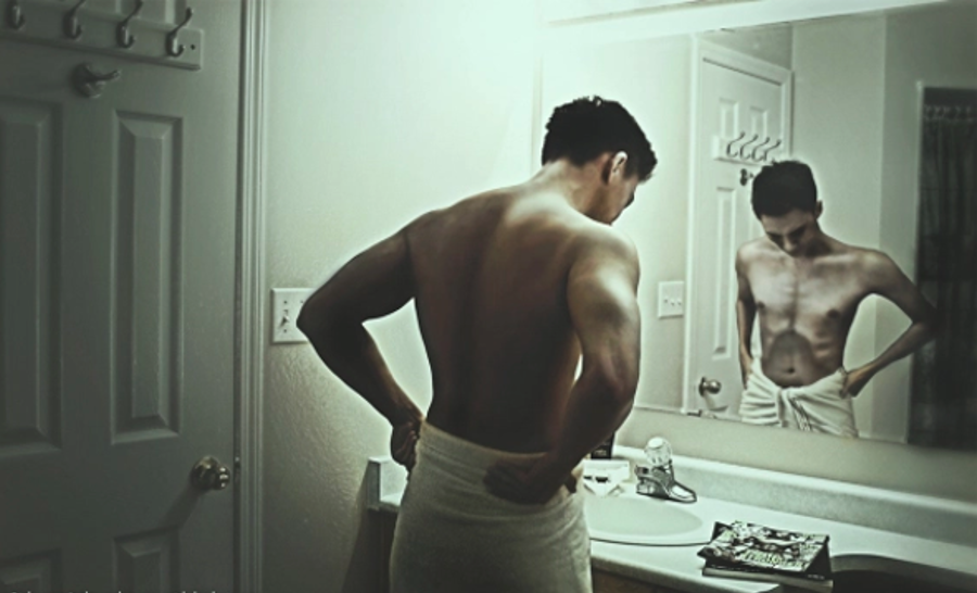 """""""Reverse anorexia"""" or """"Bigorexia"""" consists of a preoccupation with not being sufficiently muscular or lean. Sports wrestling & body building athletes oftentimes present the condition, according to Body Dysmorphic Disorder Foundation. Image Credit: Adonis Effect"""