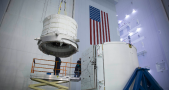 NASA engineers prepared a Falcon 9 for an ISS resupply mission. Image Credit: NASA