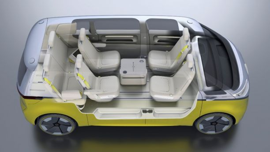 Interior layout of the upcoming Volkswagen microbus. Image Credit: Volkswagen / Fox News