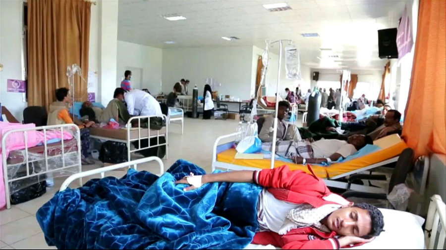The cholera epidemic is currently the largest in the world. Image credit: Aljazeera