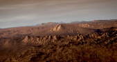 Mars' Gale Crater. Image Credit: Daily Galaxy