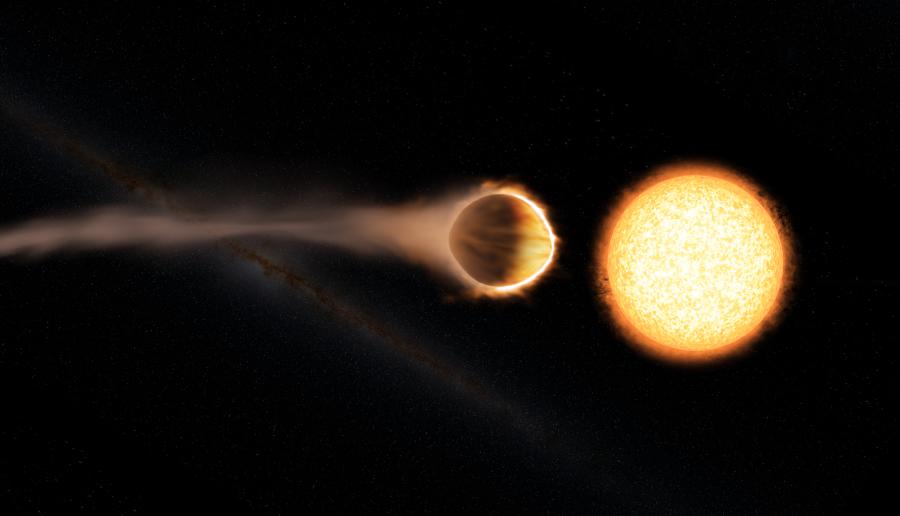 Artist's concept of hot Jupiter WASP-121. Image Credit: NASA