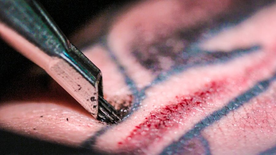 Tattoo ink caused adverse reaction in lymph nodes. Image credit: SmarterEveryDay - Youtube