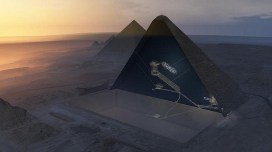 Void inside Pyramid of Giza, Egypt, Giza, Pyramids of Egypt