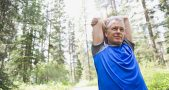 Late-middle-aged people working out, Four to five days of exercise, Healthier hearts, Sedentary lifestyle