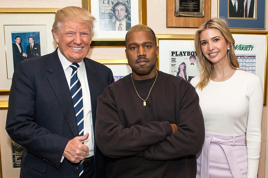 Kanye West, Donald Trump, Kim Kardashian