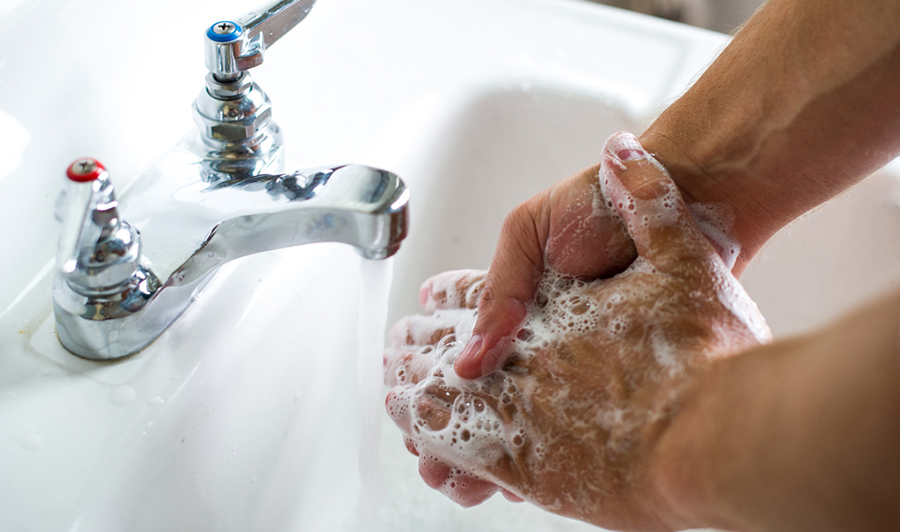 Washing hands, USDA