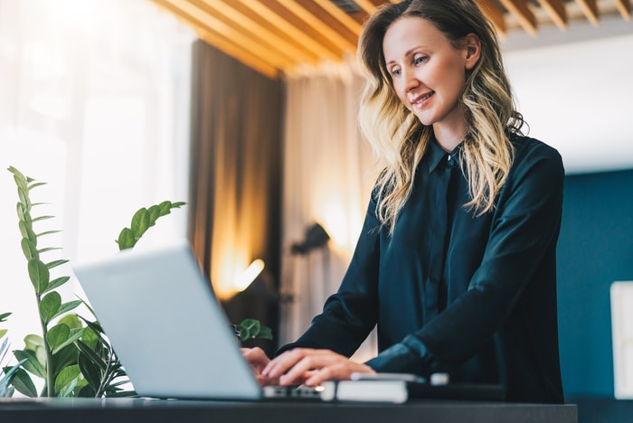 Woman Managing Business