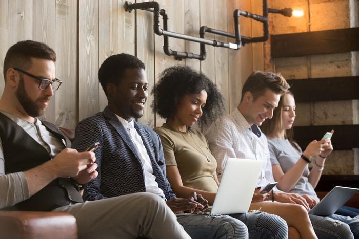 Millennials Using Technology