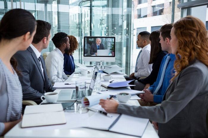 Video Conferencing Business Meeting