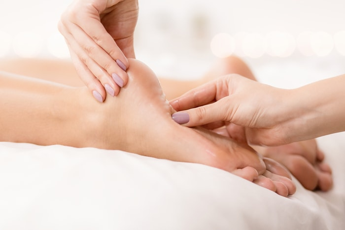 Woman Foot Care Problems