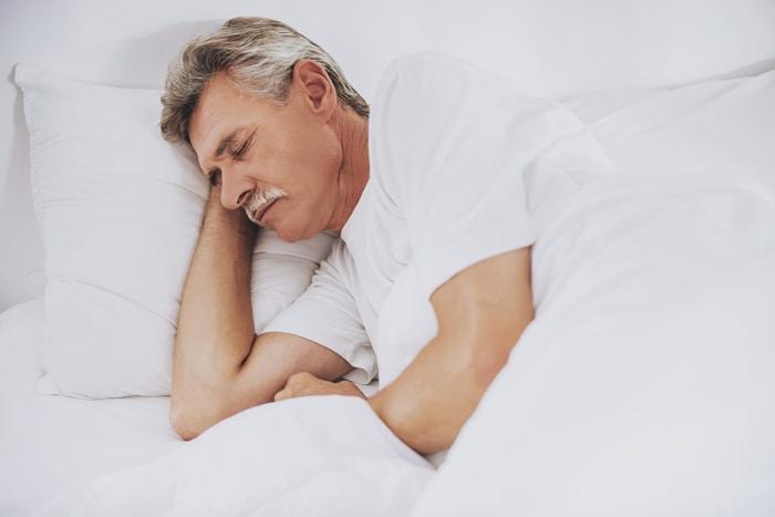 Elder Man Sleeping