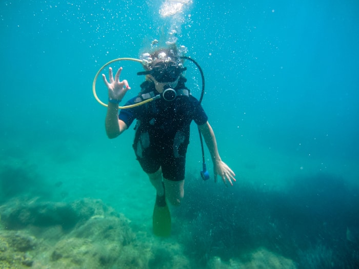 Diving in the Komodo Islands