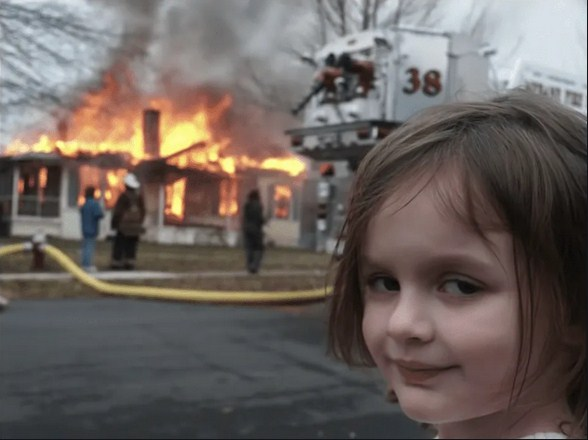 """Zoe Roth, Face behind the """"Disaster Girl"""" Meme, Sells Meme for $500,000 in Online Auction"""