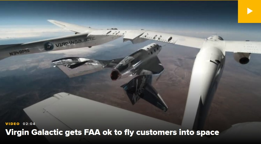 Virgin Galactic Gets FAA Approval to Fly Passengers to Space; Company Shares Soar