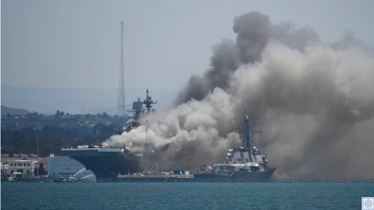 Navy Charges Sailor with Arson after Setting Fire to an Amphibious Assault Ship
