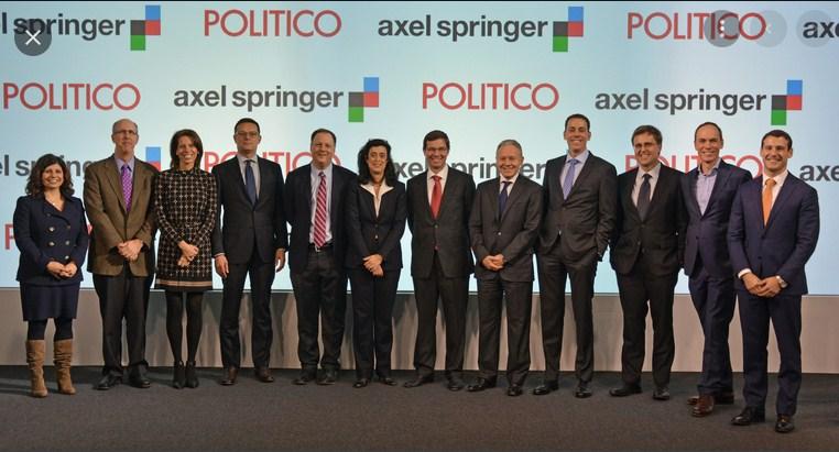 German Media Giant, Axel Springer, Acquires Politico News Website $1 Billion